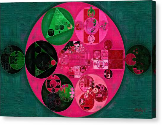 Big West Canvas Print - Abstract Painting - Cerise by Vitaliy Gladkiy