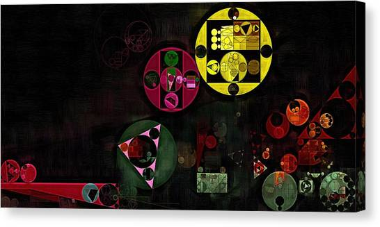 Abstract Painting - Metallic Gold Canvas Print
