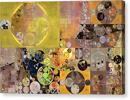Fanciful Canvas Print - Abstract Painting - Pale Brown by Vitaliy Gladkiy