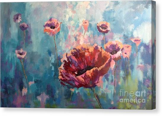 Abstract Poppy Canvas Print