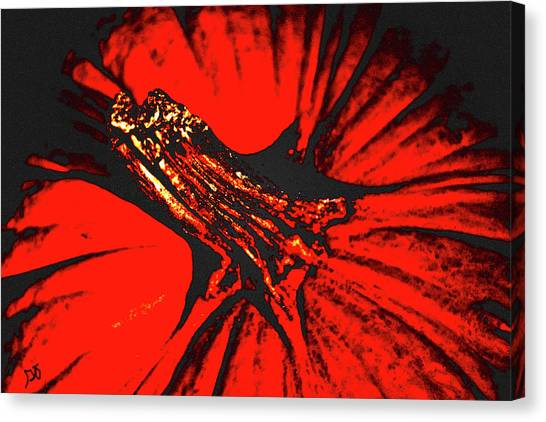 Abstract Pumpkin Stem Canvas Print