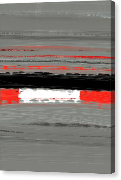 Tasteful Canvas Print - Abstract Red 4 by Naxart Studio
