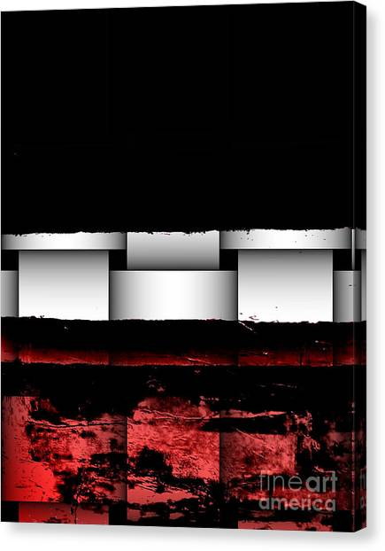 Abstract Red And Black Ll Canvas Print by Marsha Heiken