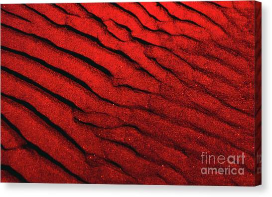 Abstract Red Sand- 2 Canvas Print