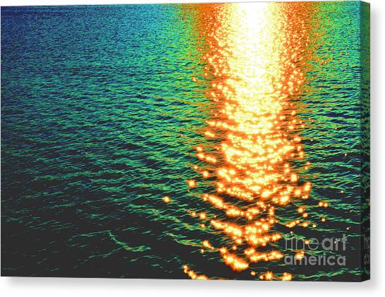 Abstract Reflections Digital Painting #5 - Delaware River Series Canvas Print