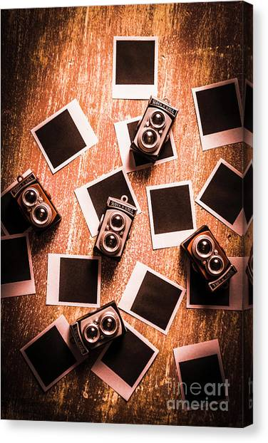Tables Canvas Print - Abstract Retro Camera Background by Jorgo Photography - Wall Art Gallery