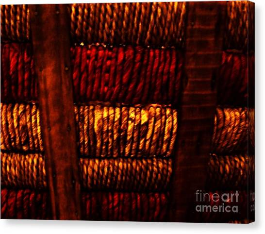 Abstract Ribbed Rows Canvas Print by Marsha Heiken