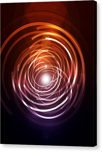 Shapes Canvas Print - Abstract Rings by Michael Tompsett