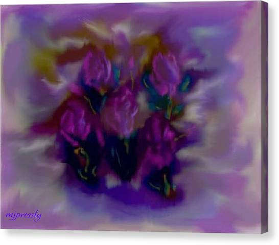 Abstract Roses Canvas Print by June Pressly