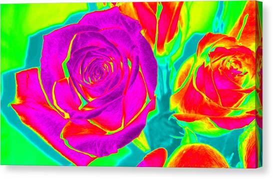 Blooming Roses Abstract Canvas Print