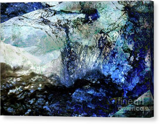 Abstract Runoff Canvas Print