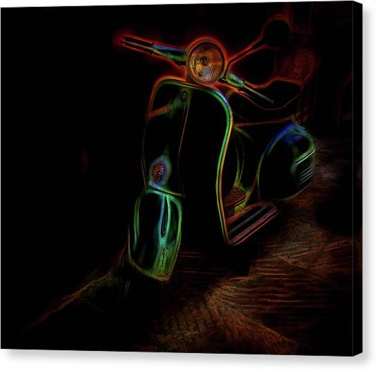 Abstract Scooter Canvas Print by Elijah Knight