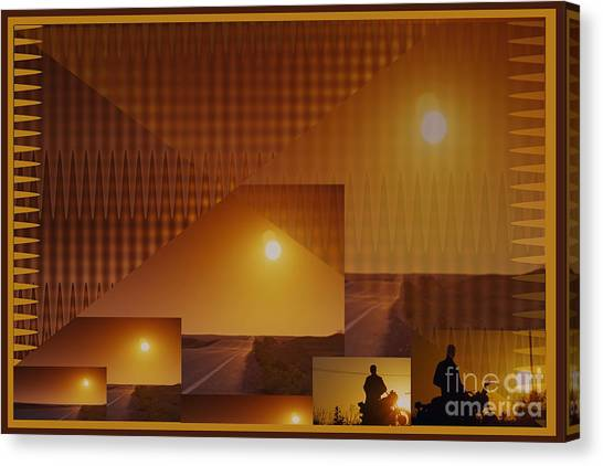Stockart Canvas Print - Abstract Style Graphics Based On Sunset Photography Of Canadian West by Navin Joshi
