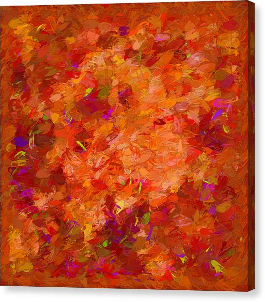 Border Wall Canvas Print - Abstract Summer Afternoon by Debra Lynch