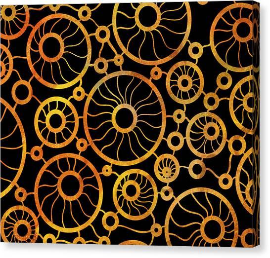 Xxl Canvas Print - Abstract Sunflower Field by Frank Tschakert