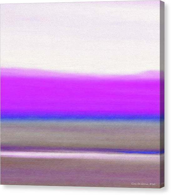 Abstract Sunset 65 Canvas Print