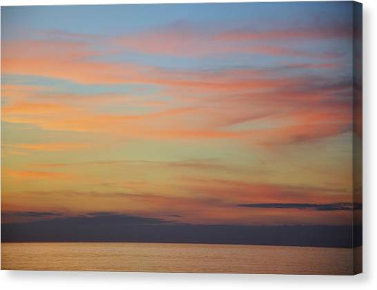 Abstract Sunset By Nature Canvas Print by Rose  Hill