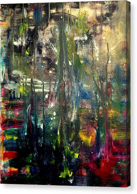Buried Canvas Print - Abstract - The Man Buried In Moon River by Angela  Holladay