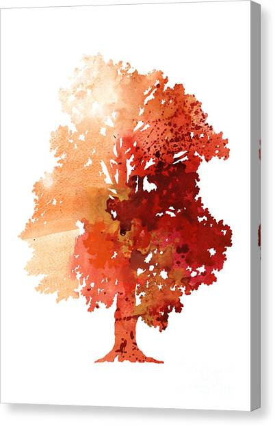 Watercolor Canvas Print - Abstract Tree Watercolor Poster by Joanna Szmerdt