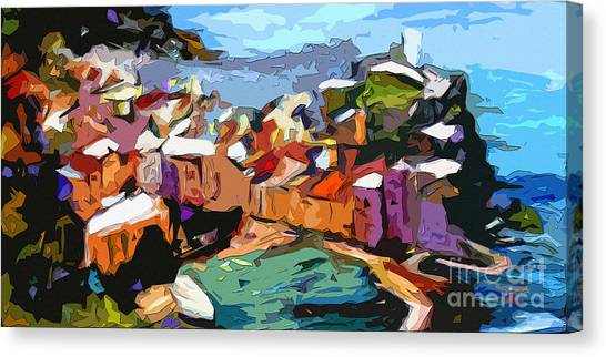 Abstract Vernazza Italy Cinque Terre Canvas Print