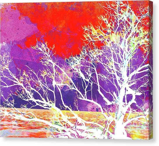 Surf Lifestyle Canvas Print - Abstract Watercolor - Abstract Tree by Chris Andruskiewicz