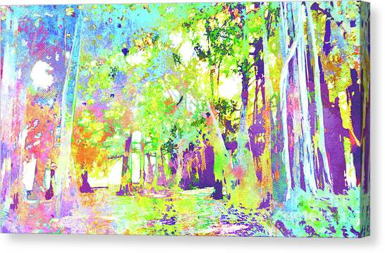 Surf Lifestyle Canvas Print - Abstract Watercolor - Banyan Forest I by Chris Andruskiewicz