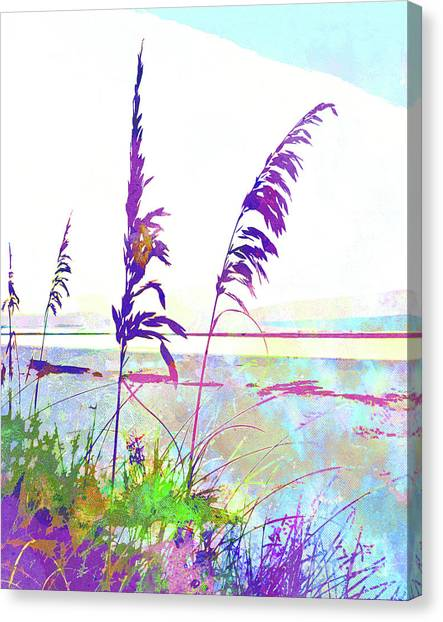 Surf Lifestyle Canvas Print - Abstract Watercolor - Morning Sea Oats I by Chris Andruskiewicz