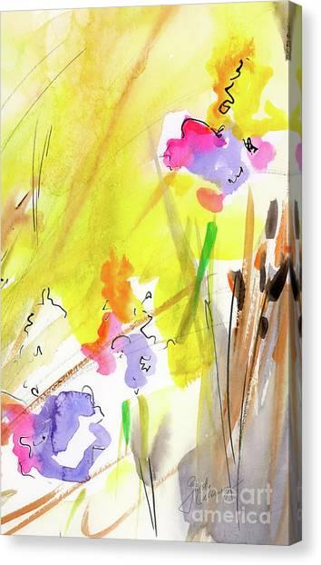 Abstract Watercolor Summer Splender Canvas Print