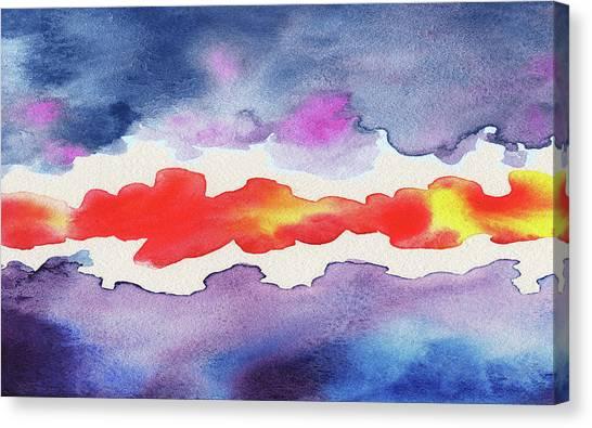 Cyclones Canvas Print - Abstract Watercolor Sunset by Irina Sztukowski