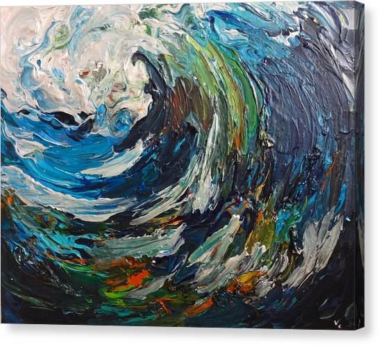 Abstract Wild Wave  Canvas Print
