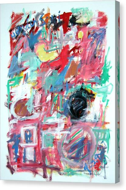 Abstract With Blue Date Canvas Print by Michael Henderson
