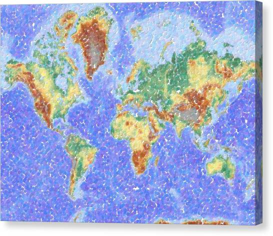 World map wallpaper canvas prints page 3 of 10 pixels world map wallpaper canvas print abstract world map aboriginal dotted style by celestial images gumiabroncs Gallery