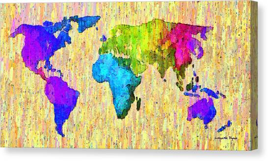 International border canvas prints page 9 of 12 fine art america international border canvas print abstract world map colorful 52 da by leonardo digenio gumiabroncs Images