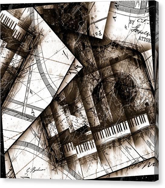 Mozart Canvas Print - Abstracta 24 Cadenza by Gary Bodnar
