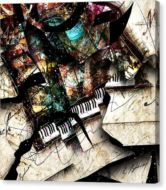 Mozart Canvas Print - Abstracta_22 Concerto 3 by Gary Bodnar