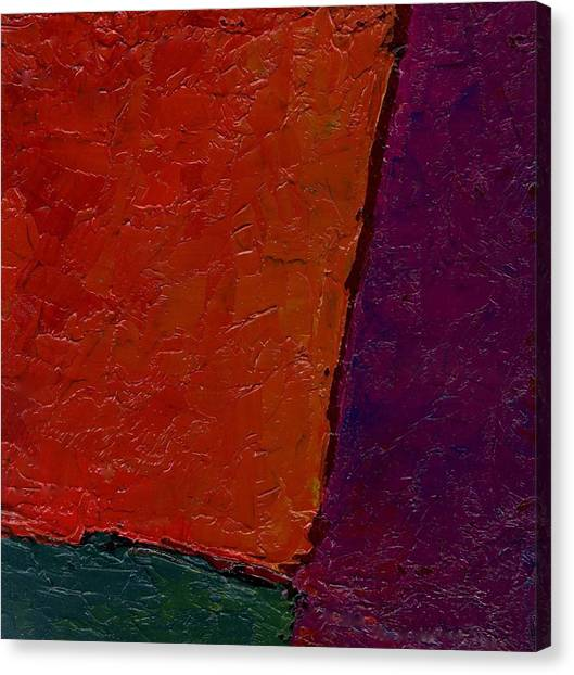 Abstraction Xv Orange Crush Canvas Print by Chris  Riley