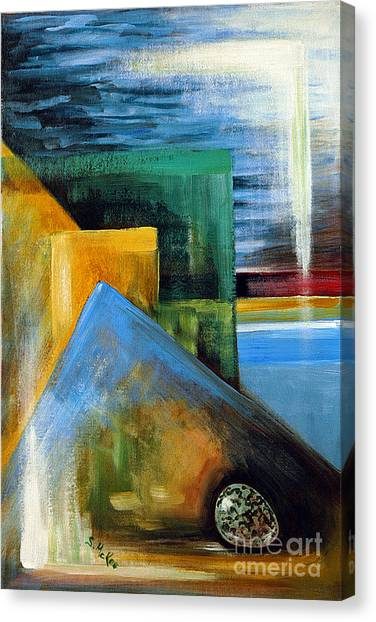 Abstrct And A Plover Egg Canvas Print