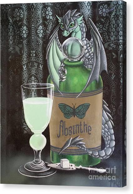Absinthe Dragon Canvas Print