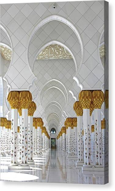 Abu Dhabi Mosque Canvas Print
