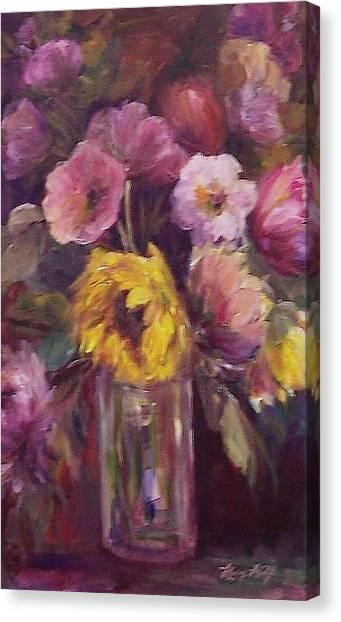 Abundance- Floral Painting Canvas Print
