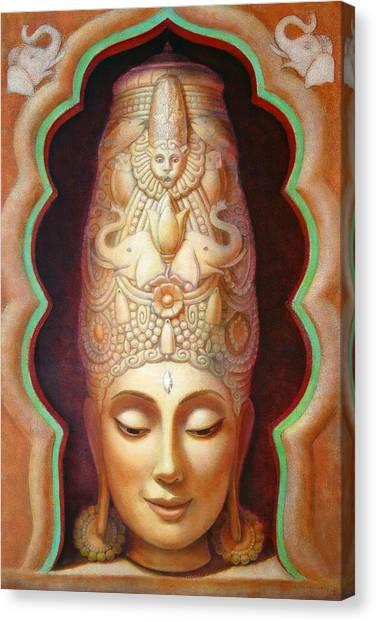 Hindu Goddess Canvas Print - Abundance Meditation by Sue Halstenberg