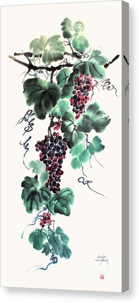 Abundant Grapes Canvas Print by Nadja Van Ghelue