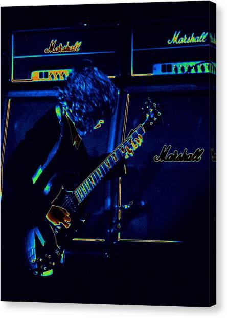 Ac Dc Electrifies The Blues Canvas Print