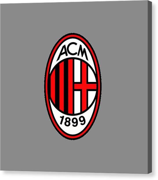 Ac Milan Canvas Print - Ac Milan Logo by Edi Alhamdulilah