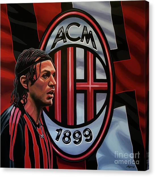 Ac Milan Canvas Print - Ac Milan Painting by Paul Meijering