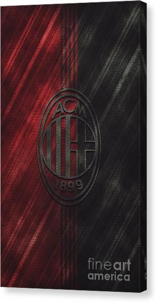 Ac Milan Canvas Print - Ac Milan by Santosa Surya