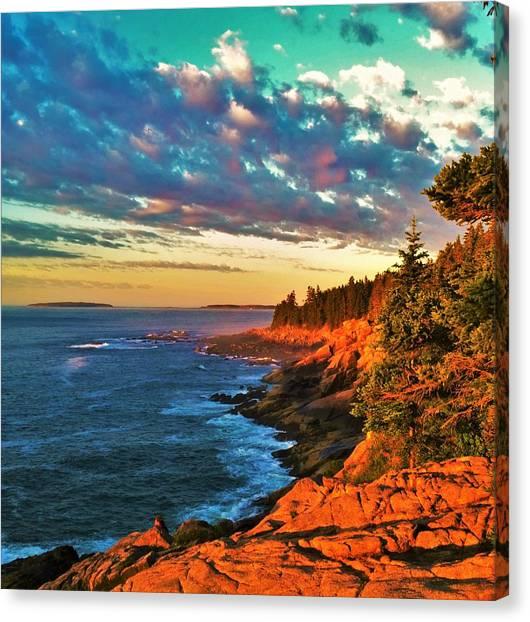 Acadia At Dawn Canvas Print