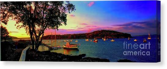Acadia Bar Harbor Sunset Cruises.tif Canvas Print