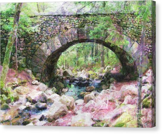 Acadia National Park - Cobblestone Bridge Abstract Canvas Print
