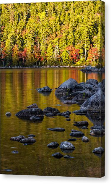 Mountain Sunset Canvas Print - Acadian Glow by Chad Dutson